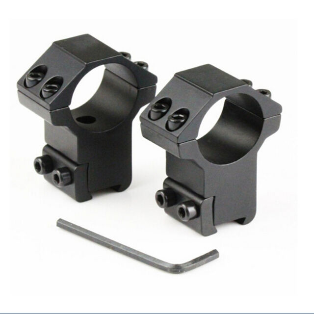 "2x Rifle Tactical High Profile 25.4mm 1"" Scope Rings 11mm Dovetail Rail Mount GT"