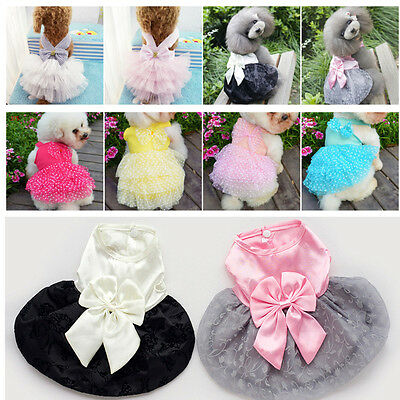 Small Pet Puppy Dog Cat Lace Skirt Princess Tutu Dress Summer Clothes - Dog Tutu