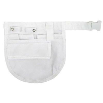 Nurses Organizer Apron Belt White 7 Pockets Think Medical 94562