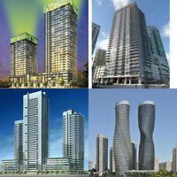 Square One, Mississauga 1bed,1+den & 2Bedroom Units For Rent!