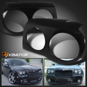 2005-2010 Chrysler 300C Headlight Covers Bezel Eyelids Left+Right