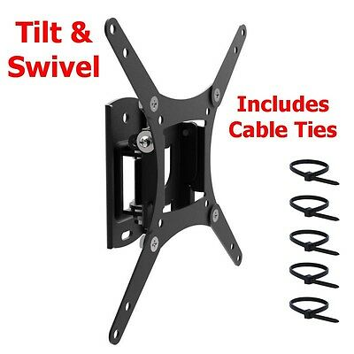 TV Wall Mount Bracket Flat Tilt Swivelt 24 27 32 38 40 Inch