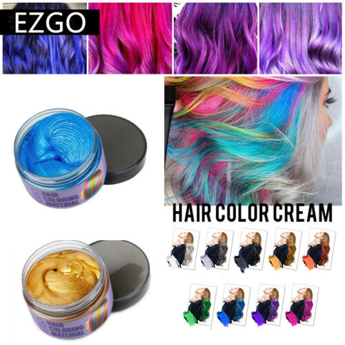 Women Men Hair Color Wax Cream Mud Dye Temporary Modeling For Social Media Hair Care & Styling