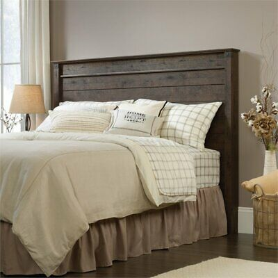 Sauder Carson Forge Full Queen Panel Headboard in Coffee Oak for sale  Sterling