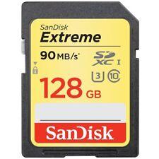 SanDisk 128Go Class 10 Extreme UHS-I U3 SD 90Mo/s SDXC Carte mémoire SD