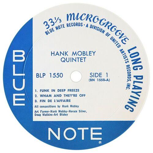 BLP 1550 HANK MOBLEY QUINTET BLUE NOTE REPRO  VINYL STICKER DECAL B2G 1 FREE