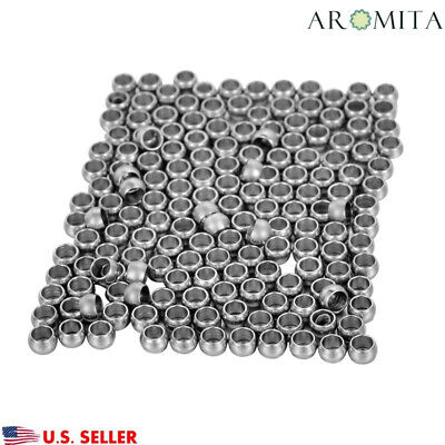 Wholesale Beading Supplies (Wholesale Stainless Steel Spacer Beads Bracelet Supplies 2.5mm Dia 1.7mm)