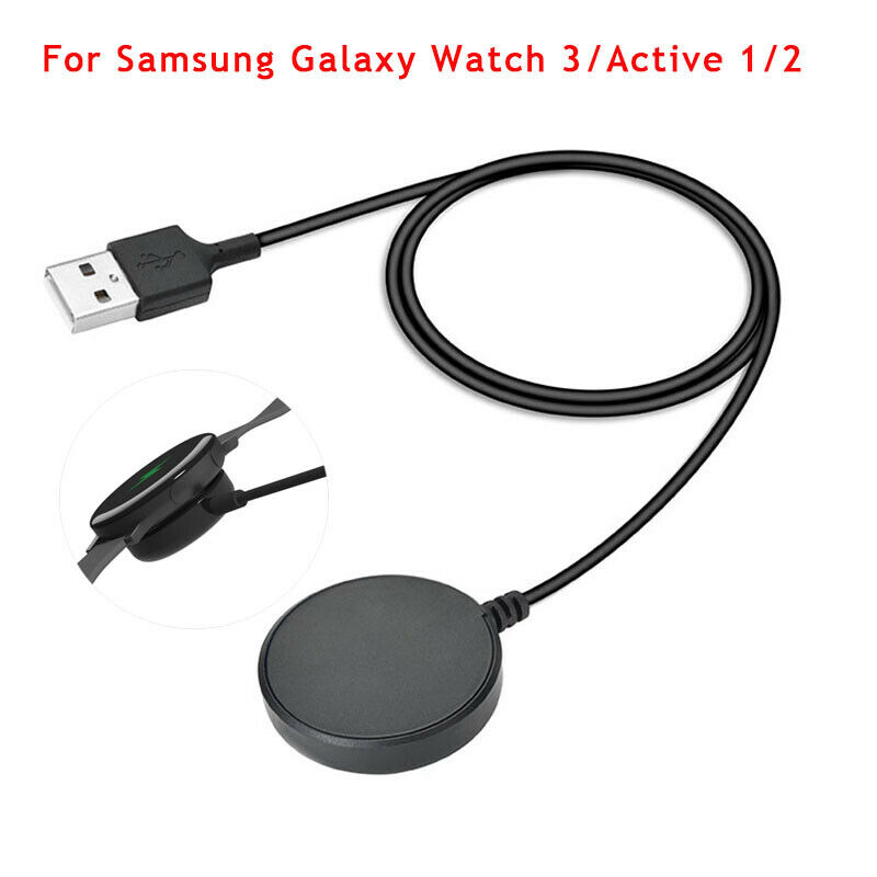 For Samsung Galaxy Watch3 Active 1/2 USB Charger Magnetic Dock Charging Cable