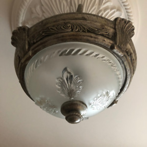 2 Light Semi Flush Mount Ceiling Light For Sale
