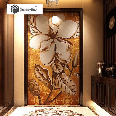 Mosaic Mural Big Flower Crystal Glass Hand Made Art Mosaics Tiles Wall Deco