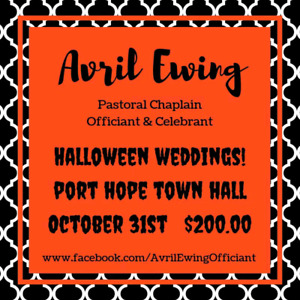 Halloween Weddings at Port Hope Town Hall