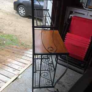 étagère fer forgé et mélamine 20`` X 30`` Lac-Saint-Jean Saguenay-Lac-Saint-Jean image 1