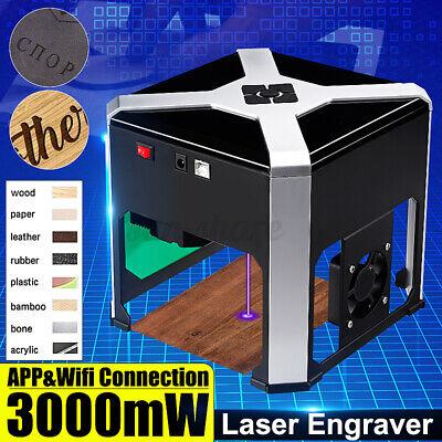 3000mw 3d Cnc Laser Engraving Cutting Machine Desktop Usb Mark Printer Cutter Us