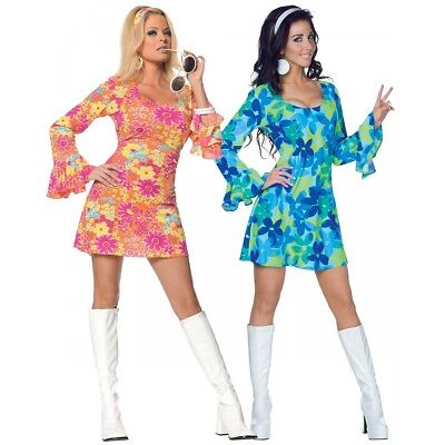 Go Go Girl Costume Adult 60s 70s Disco Halloween Fancy Dress - Halloween Disco