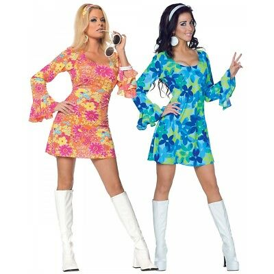 Go Go Girl Costume Adult 60s 70s Disco Halloween Fancy Dress (Go Costumes)