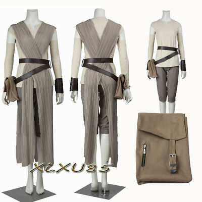 Hot Cakes Star Wars 8 Rey Cosplay Costume Customize Halloween Full Set Outfit