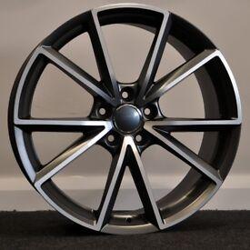 """19"""" RS4-C Style Alloy Wheels & Tyres. Suit Seat Leon, Audi A4. Volkswagen Passat"""