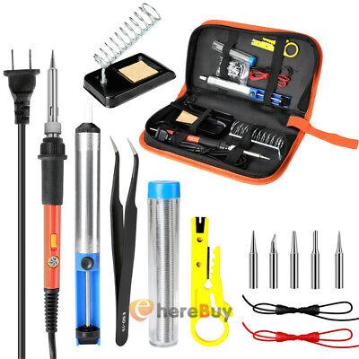 14pcs Soldering Tips Iron Kit Electronic Adjustable Temperature Welding Tool Set