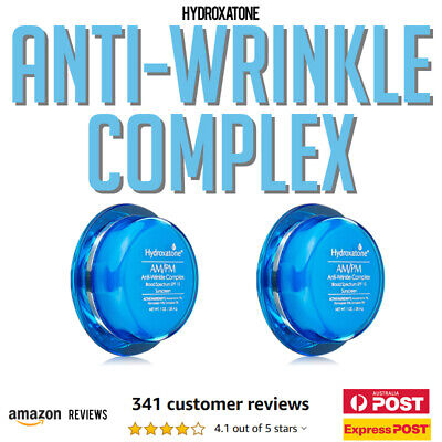 2 x Hydroxatone AM PM Anti Wrinkle Complex Face Cream with SPF 15 895891001690
