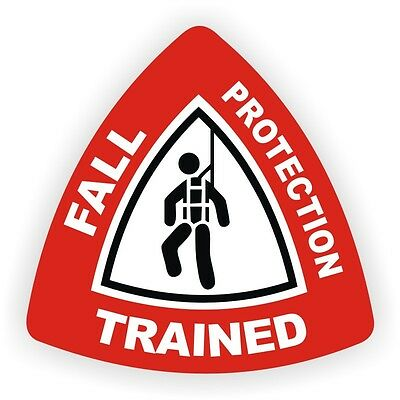 Fall Protection Hard Hat Decal Helmet Sticker Safety Label Harness Laborer