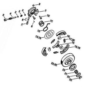 stihl ms361 oil pump worm gear clutch drum rim sprocket With stihl fuel pump