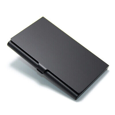 Black Aluminum Alloy Business Card Holder Metal Name Card Holder Name Box Wallet