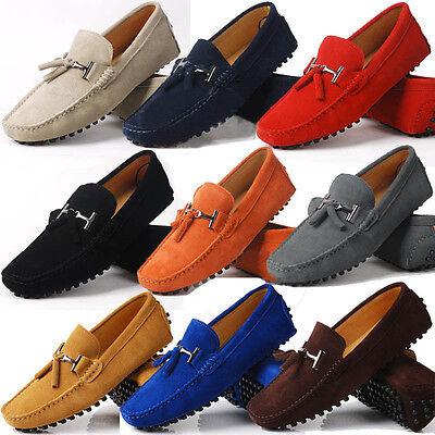 Seude Leather - Fulinken US 6-10 seude Leather Mens tassel Loafer slip on mens driving shoes