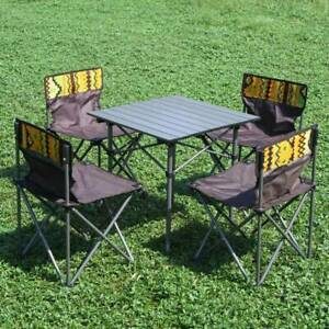 Outdoor Camping Picnic BBQ Aluminium Table and 5PCS Chairs TY9001
