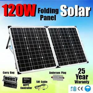 120w Folding Solar Panel Kit + regulator + bag car power charger Wangara Wanneroo Area Preview