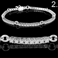 GOLD DIAMOND TENNIS BRACELET TENNIS AVEC DIAMANTS EN OR