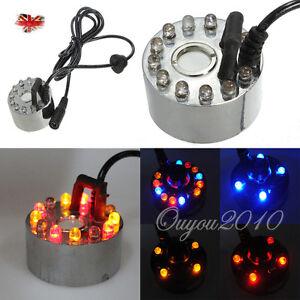 Reptile Party 12 LED Mist Maker Fogger Waterproof Fountain Humidifier Ultrasonic