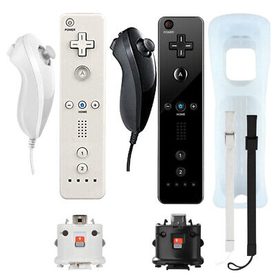 Remote Controller Nunchuck Set with Motion Plus For Classic Wii & Wii U Gel Case