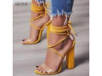 Lace up trans heel on Get Grace Gift