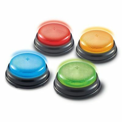 4 Answer Buzzers School Classroom Speed Game Contest Response Jeopardy Learning - Game Buzzers