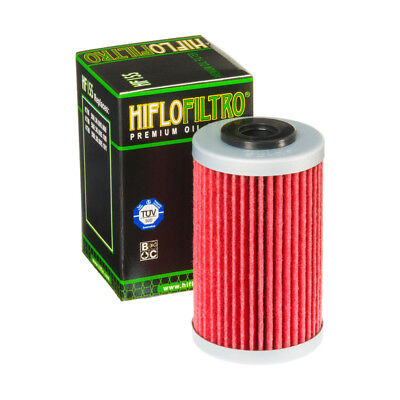 Hiflo Filtro Ölfilter HF155 für KTM 125 Duke, Bj. 2011-2018, Oil Filter, Schwarz