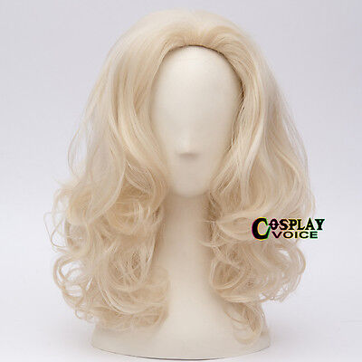 40cm Blonde Country 1980's Dolly Parton Halloween Cosplay Anime Wig + Free Cap - Dolly Parton Halloween Wigs