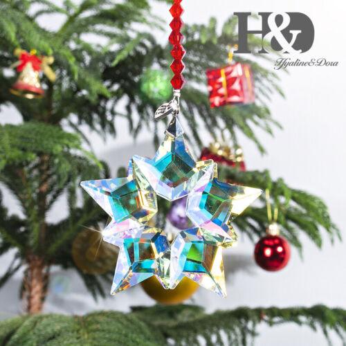 Edition 2019 Crystal Large Snowflake Ornament Christmas Tree Decor AB Coating