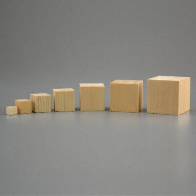 10/20/25mm DIY Wooden Square Blocks Mini Cubes Embellishment for Woodwork Craft  - Diy Wooden Blocks
