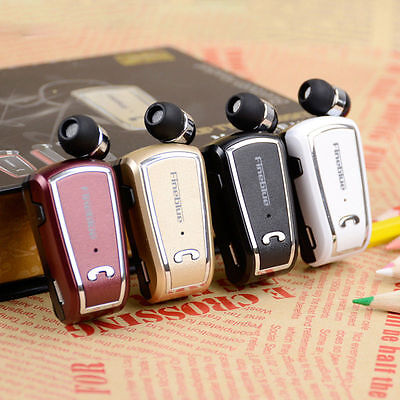 Wireless Bluetooth 4.0 Stereo Headset Retractable Clip-on Earphone Headphone KY Bluetooth Stereo Clip Headset