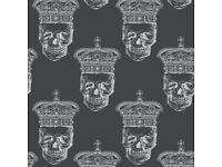 Royal skull wallpaper