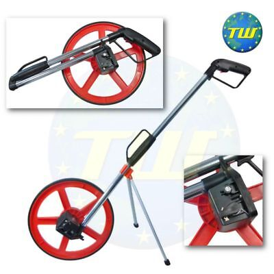 10,000M Surveyors Road Land Distance Measuring Wheel +Foldable Stand & Bag 320mm