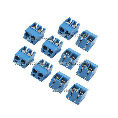 20pcs 2p 2 Pin Plug-in Screw Terminal Block Connector 5.08mm Pitch Through Hole