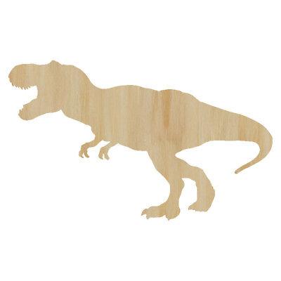 Laser Cut Out Wood T-Rex Wood Shape Craft Supply - Dinosaur Wood Cut Out T - T Rex Cut Out