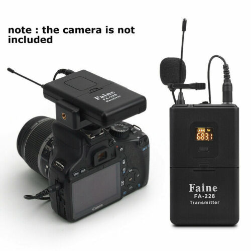 UHF Wireless Interview Microphone for DSLR Camera Camcorder DV Video