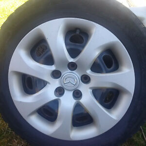 set of four steel rims - for size P205/55R16