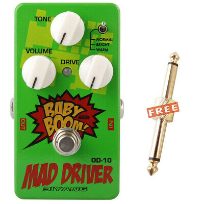 Biyang Baby Boom Effect Pedal OD-10 Mad Drive Overdrive wth Coupler Connector