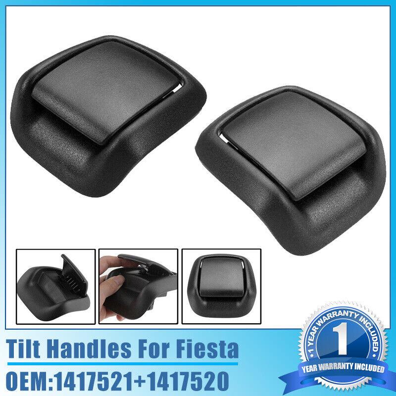 Car Parts - Black Plastic Seat Tilt Handle Front Left + Right For 02-08 Ford Fiesta MK6 VI .