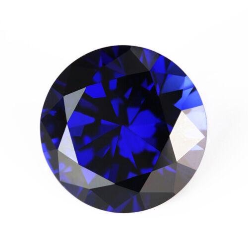 Synthetic blue sapphire loose gemstone 34# Corundum stone round shape