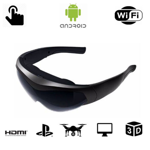 """98"""" Smart 3D WIFI HDMI Video Glasses Eyewear Goggles for PC PS4 Game FPV w/ OS"""