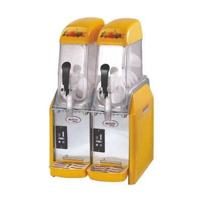 220v 2 Tank Frozen Drink Slush Machine Juice Slushy Smoothie Maker 2 12l